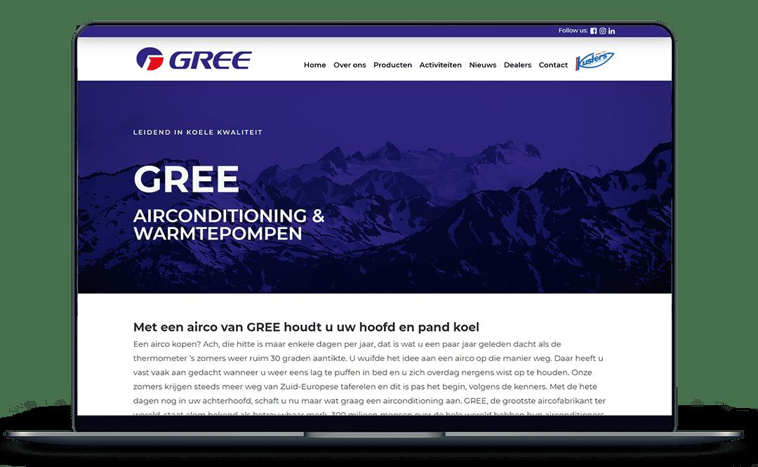 Gree-website-mockup