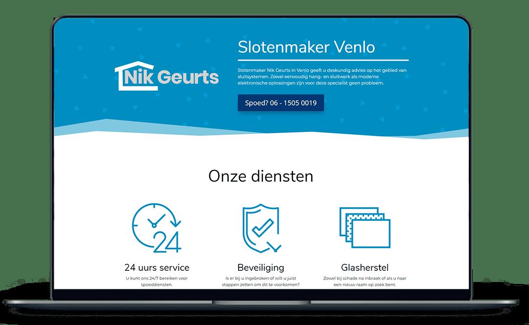 Slotenmaker Nik Geurts