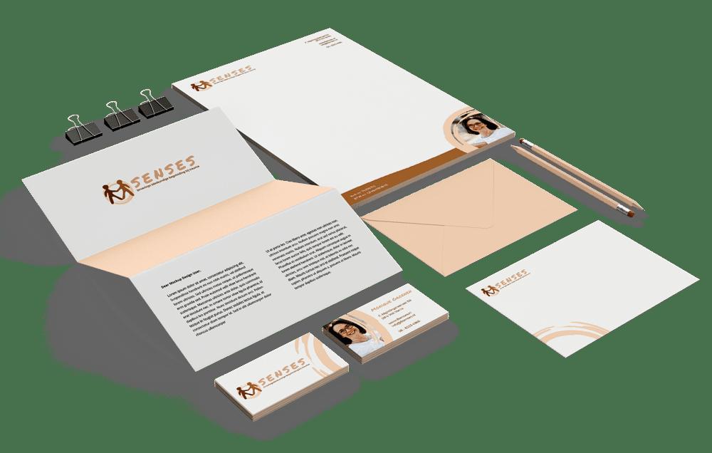 Huisstijl laten maken voor bedrijven - €450 voor Visitekaartje, Logo, Briefpapier, Enveloppen en Social Media